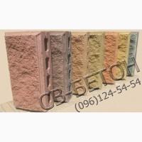 Рваный блок для забора, декоративный камень заборный, шлакоблок
