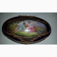 Продам фарфоровую шкатулку 19 века. Verjot