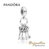 Pandora шарм-подвеска ключи от сердца 797654NPMMX