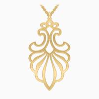 Золота підвіска та сережки Квітка душа