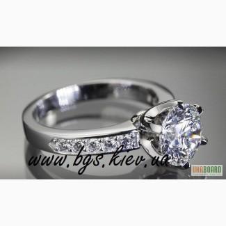 Кольцо из белого золота с бриллиантом Tiffany Co (Тиффани)