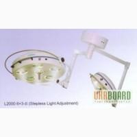 Светильник операционный бестеневой L2000 6+3-I девятирефлекторный потолочный (дв