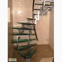 Изготовление стеклянных лестниц, перил, ступеней.