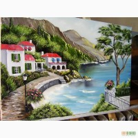 Картина маслом Красиввий берег 40х60
