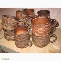 Чашки из натуральной глины
