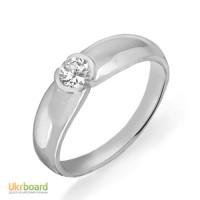 Золотое кольцо с бриллиантом 0,24 карат 17 мм. НОВОЕ (Код: 13052)