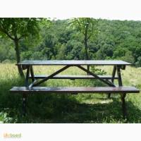 Стол садовый с лавками. Комплект парковой мебели