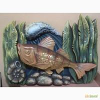 Декоративное объемное настенное панно - Лунная рыбка