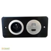 Врезной блок розеток d.Point 220+USB+HDMI