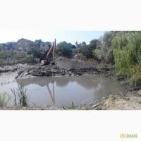 Очистка водоема экскаватором