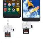 Переходник адаптер 2 in 1 Micro USB OTG Smart Card Reader на планшет