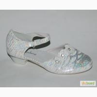 Туфли для девочек. Праздничные.klf арт. YL332 white-silver