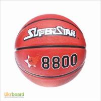 Мяч баскетбольный SUPERSTAR EV 8800 размер7, резина, 8панелей, рисунок-тиснение
