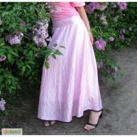 Длинная розовая юбка на лето 36р