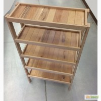 Стеллаж деревянный 150х80х30см, 5 полок