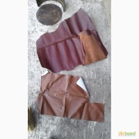 Кожа шевро коричневая 2 куска: примерно 30-50х60-70см 50грн и 35х50 40грн