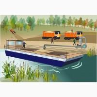 Баржа маломерная самоходная с низкой осадкой. перевозки зерновых культур по реке