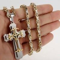 Комплект Dominik, входит в комплект крест, цепочка, браслет