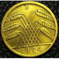 Германия 10 пфеннигов 1924 E год СОСТОЯНИЕ