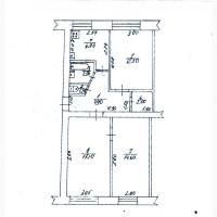 Продается 3-х комнатная квартира в г. Змиев Харьковской обл. под офис