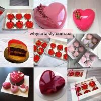 Муссовый торт в форме сердца на заказ Киев, торт сердце мусс Киев, подарок девушке