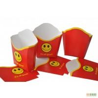 Картонная упаковка для фаст-фудов, этикетки, бумажные стаканчики