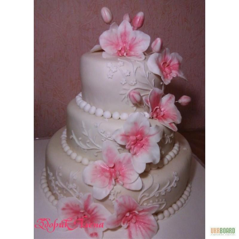 Торты свадебные без мастики ярусные