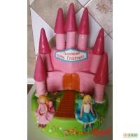 Торт Сказочный замок Сашеньки с феями