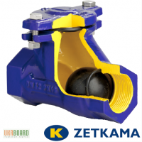 Клапан обратный канализационный муфтовый ZETKAMA