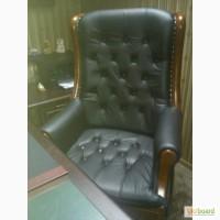 Кожаное директорское кресло Линкольн черное или темно коричневое по акционной цене