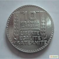 10 франков 1931 серебро