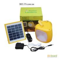 Переносной фонарь с солнечной батареей и зарядкой для телефона Solar Lantern GC-501B