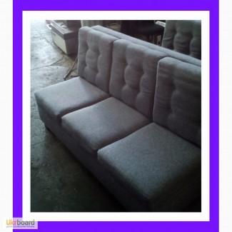 БУ дивани для бару із сірої тканини б/у