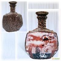 Оформление бутылки в морском стиле, подарок мужчине Морской декор
