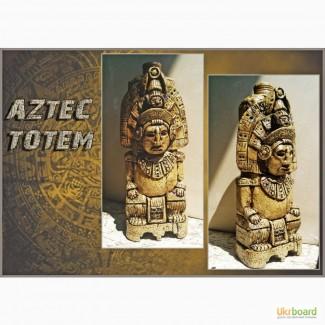 Бутылка в мексиканском стиле Аztec totem, сувенир ручной работы в Украине