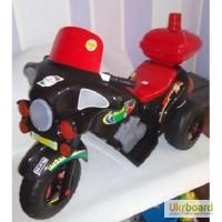 Мотоцикл чорний Я-Маха, акум., 6V/4A, Оріон 372