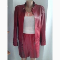Кожаная юбка + пиджак.р.48