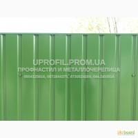 Профнастил зеленый для фасада и забора (Словакия)