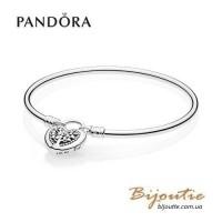 Pandora браслет жесткий Любовь - основа семьи #597101
