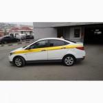 Оклейка Такси Пленкой по ГОСТу в Белый Желтый цвет