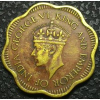 Британский Цейлон 10 центов 1944 год СОСТОЯНИЕ