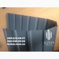 Купить профнастил матовый двухсторонний графитовый, RAL 7024, темно-серый, мокрый асфальт