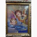 Картина Ангел вышитая бисером
