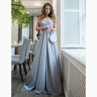 Вечернее, шикарное, праздничное, выпускное платье в пол. Р. 36. Серебристое с блёстками