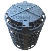 Чугунный люк тяжелый тип С250 EN124 с запорным устройством