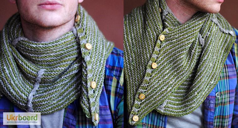 Вязкой связать мужской шарф 143