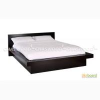 Двухспальная кровать Соната из натурального дерева