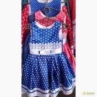 Модное платье в горох, возраст 5-8 лет, цвета разные, S220