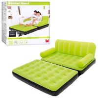 Надувной диван - трансформер 2 в 1 Best Way+насос и сумка для хранения 2 цвета