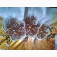 Картина Орхідея вишита бісером